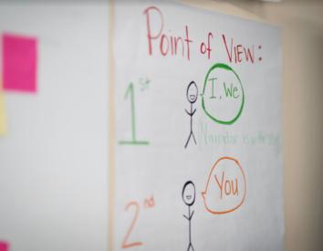White board in a classroom