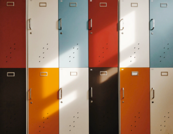 Set of Multicolored Lockers